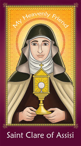 Prayer Card - Saint Clare of Assisi | Holy card for Catholic kids by Brother Francis