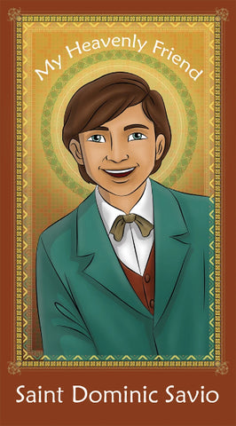 Prayer Card - Saint Dominic Savio | Holy card for Catholic kids by Brother Francis