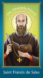 Prayer Card - Saint Francis de Sales | Holy card for Catholic kids