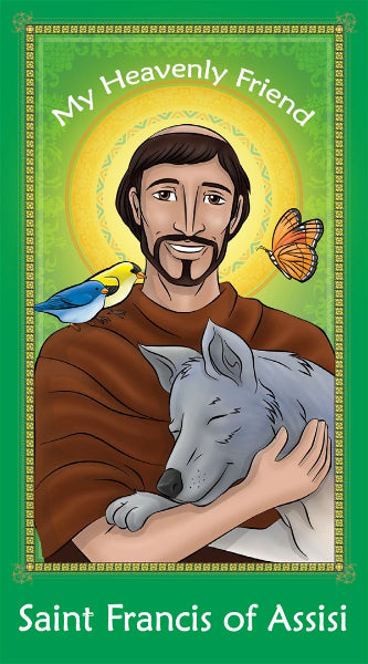Prayer Card - Saint Francis of Assisi | Holy card for Catholic kids by Brother Francis