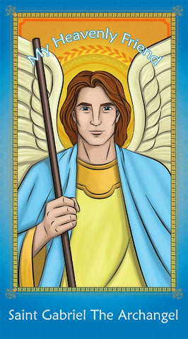 Prayer Card - Saint Gabriel the Archangel | Holy card for Catholic kids by Brother Francis