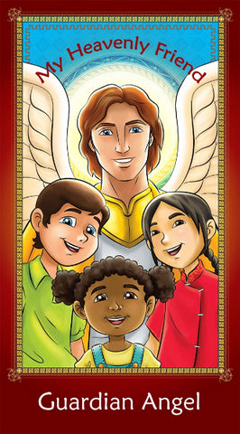 Prayer Card - Guardian Angel holy card for Catholic kids