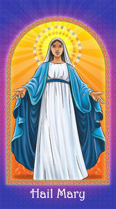 Prayer Card - Hail Mary holy card for Catholic kids