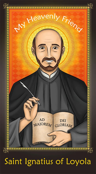 Prayer Card - Saint Ignatius of Loyola | Holy card for Catholic kids by Brother Francis