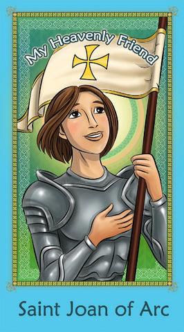 Prayer Card - Saint Joan of Arc | Holy card for Catholic kids.