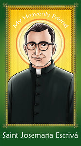 Prayer Card - Saint Josemaría Escrivá | Holy card for Catholic kids