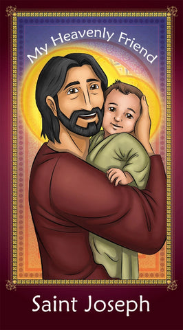Prayer Card - Saint Joseph | Holy card for Catholic kids by Brother Francis