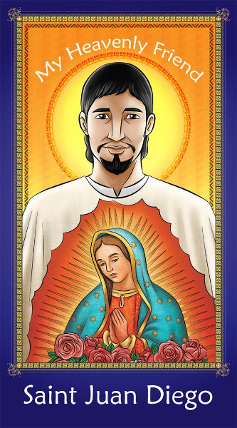 Prayer Card - Saint Juan Diego | Holy card for Catholic kids by Brother Francis