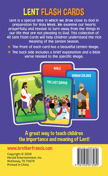Lent Flash Cards