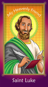 Prayer Card - Saint Luke | Holy card for Catholic kids by Brother Francis