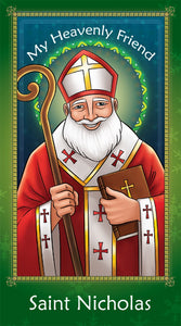 Prayer Card - Saint Nicholas | Holy card for Catholic kids by Brother Francis