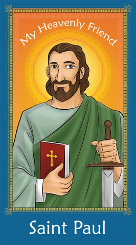 Prayer Card - Saint Paul | Holy card for Catholic Kids by Brother Francis