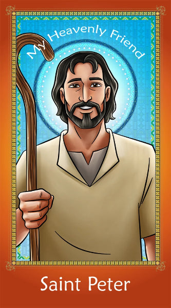 Prayer Card - Saint Peter | Holy Card for Catholic kids by Brother Francis