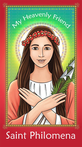 Prayer Card - Saint Philomena | Holy card for Catholic kids by Brother Francis