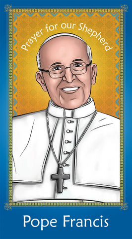 Prayer Card - Pope Francis holy card