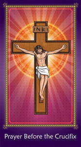Prayer Card - Prayer Before the Crucifix holy card for Catholic kids