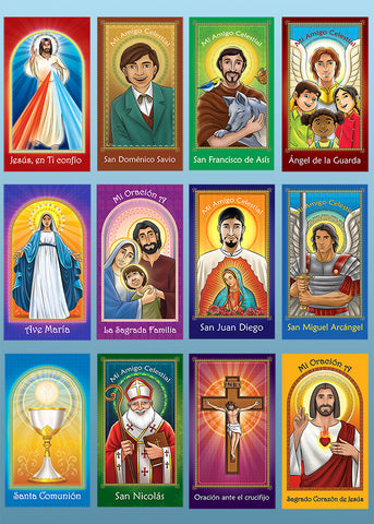 Set of 12 Spanish Prayer Cards