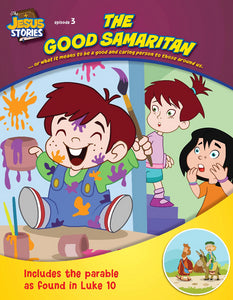 The Good Samaritan coloring book - Jesus Stories Episode 3 cover