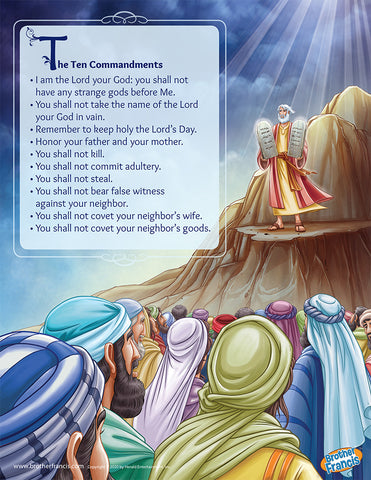 Brother Francis Mini Poster - The Ten Commandments