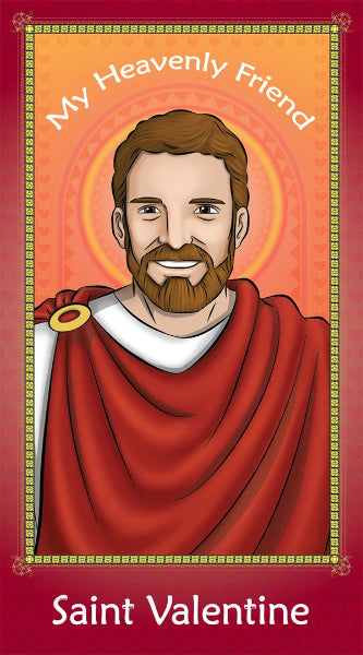 Prayer Card - Saint Valentine | Holy card for Catholic kids by Brother Francis