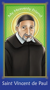 Prayer Card - Saint Vincent de Paul | Holy card for Catholic kids