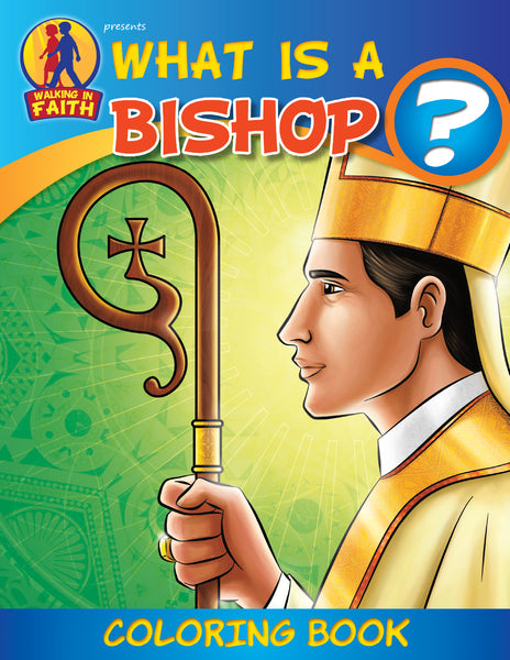 What is a Bishop - Walking with Jesus Catholic coloring book