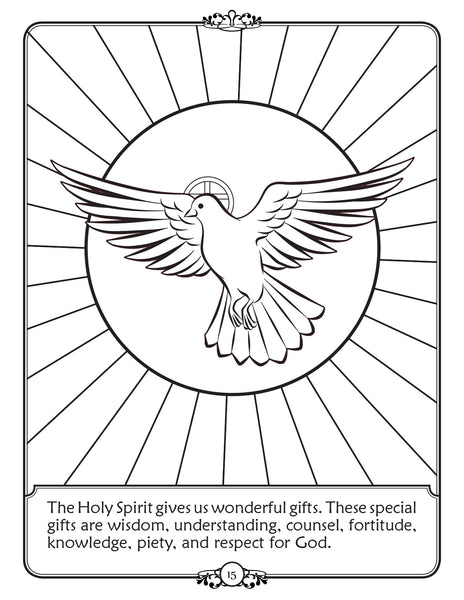 What is Confirmation - Walking in Faith Catholic coloring book - Holy Spirit