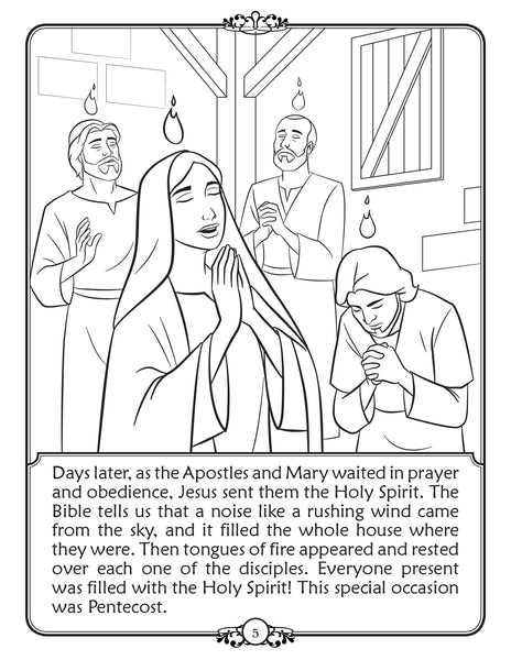 What is Confirmation - Walking in Faith Catholic coloring book - Pentacost