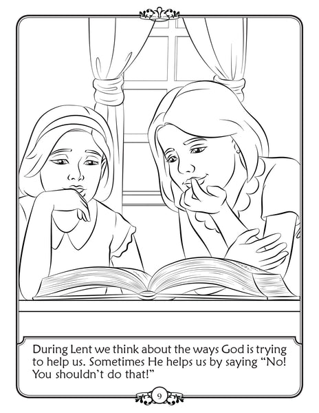 What is Lent - Walking In Faith coloring book by Brother Francis - explaining lent
