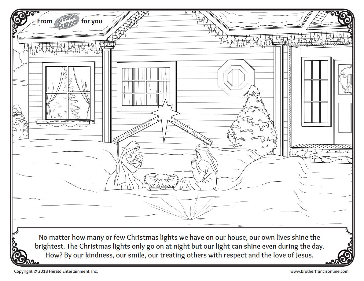 "Download and Print - Advent Coloring Page ""Nativity Scene"""