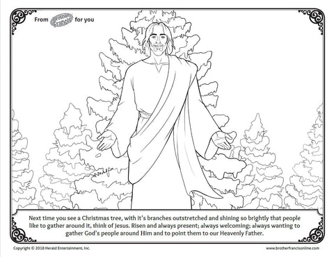 "Download and Print - Advent Coloring Page ""Christmas Tree"""