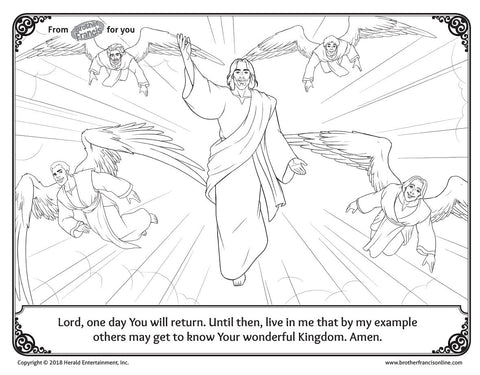 "Download and Print - Advent Coloring Page ""Kingdom of Heaven"""