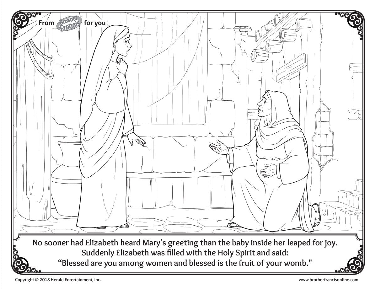 "Download and Print - Advent Coloring Page ""Saint Elizabeth"""