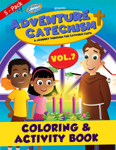 5-Pack of Adventure Catechism Volume  7 - Coloring and Activity Book