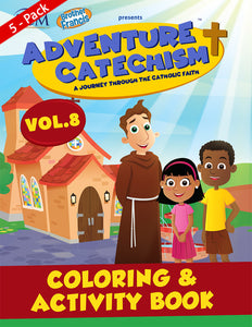 5-Pack of Adventure Catechism Volume  8 - Coloring and Activity Book
