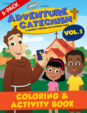 5-Pack of Adventure Catechism Volume 1 - Coloring and Activity Book