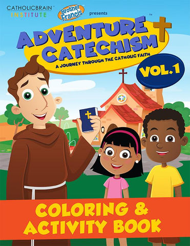 Adventure Catechism for catholic kids coloring book volume 1