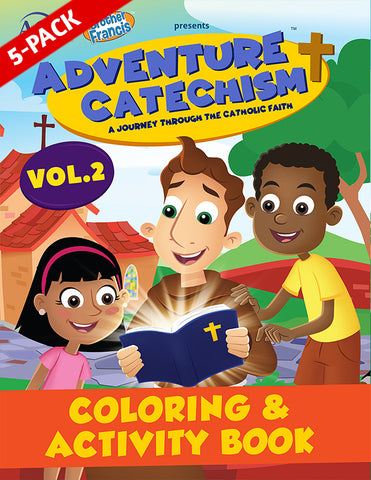 5-Pack of Adventure Catechism Volume 2 - Coloring and Activity Book