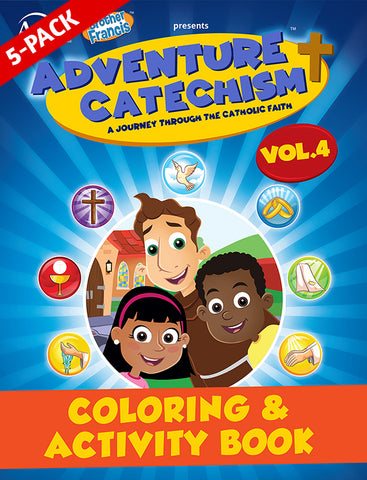 5-Pack of Adventure Catechism Volume 4 - Coloring and Activity Book