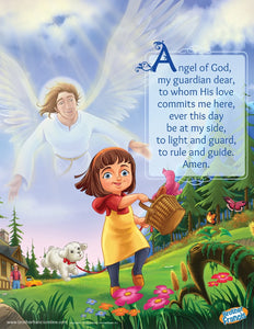 Guardian Angel for a little girl mini poster from Brother Francis.