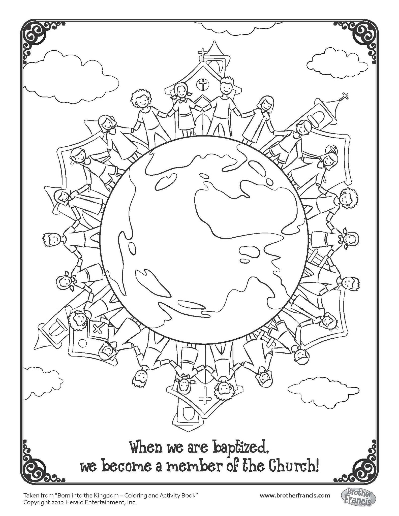 Download and Print - Baptism Coloring Page