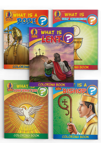 """Walking in Faith"" Series Bundle - Set of 5 Coloring Books"