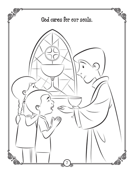 Brother Francis Coloring and Activity Book - the Bread of Life, Eucharist coloring page
