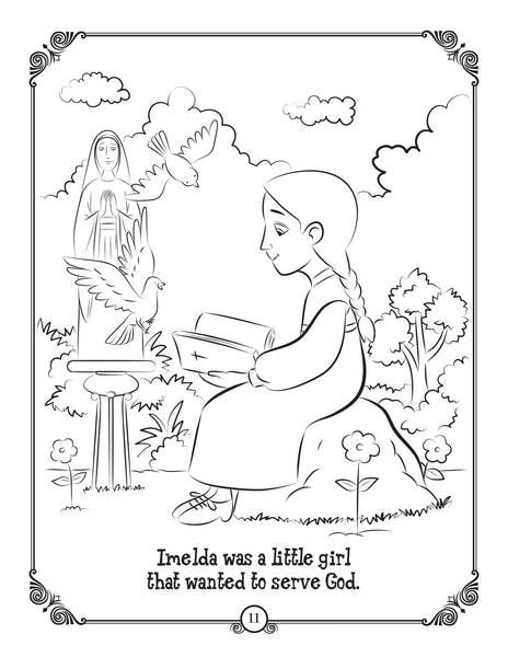 Brother Francis coloring and activity book - The Bread of Life - Imelda Lambertini coloring page