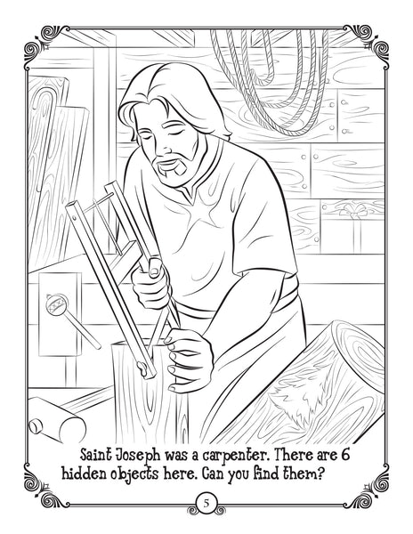 Brother Francis O Holy Night coloring page - Saint Joseph