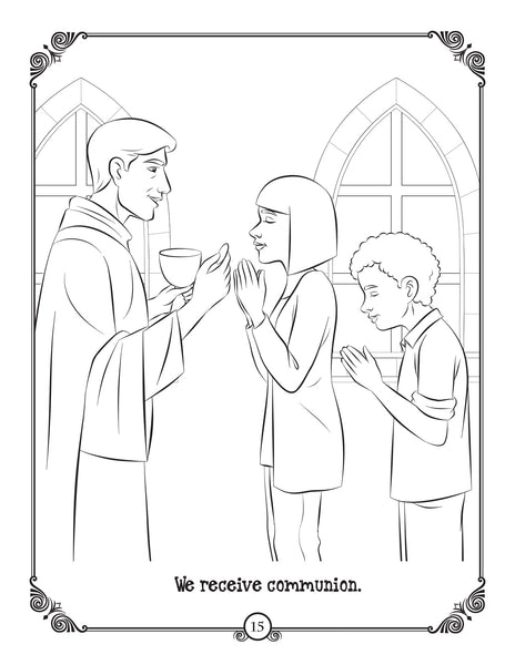 Brother Francis Coloring and Activity Book - The Mass - Holy Communion