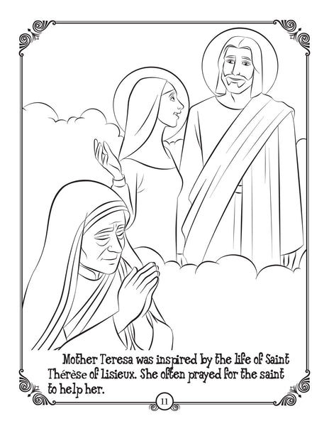 Brother Francis Coloring and Activity Book - coloring page Mother Teresa