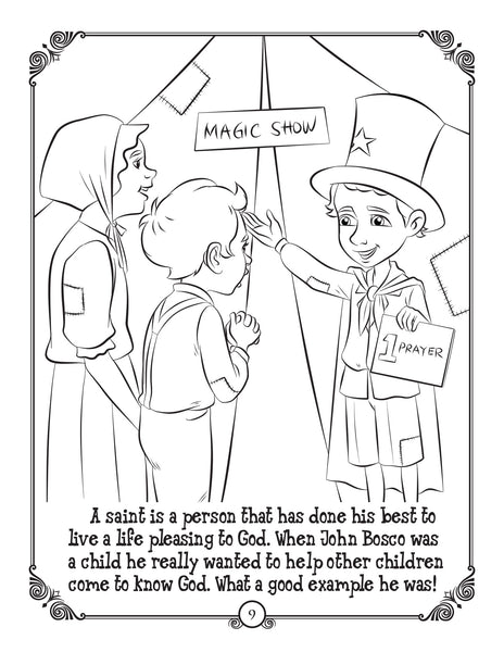 Brother Francis Coloring and Activity Book - The Saints - who are the saints?