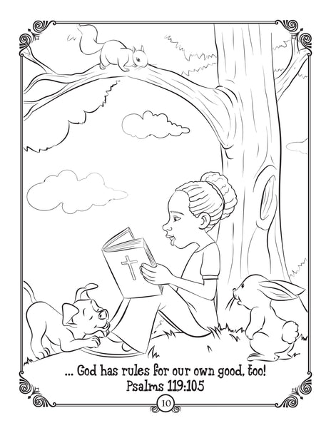Brother Francis Coloring and Activity Book - Forigven - sample coloring page Psalm 119:105