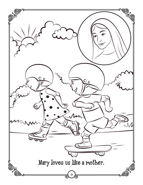 Brother Francis coloring page from The Rosary